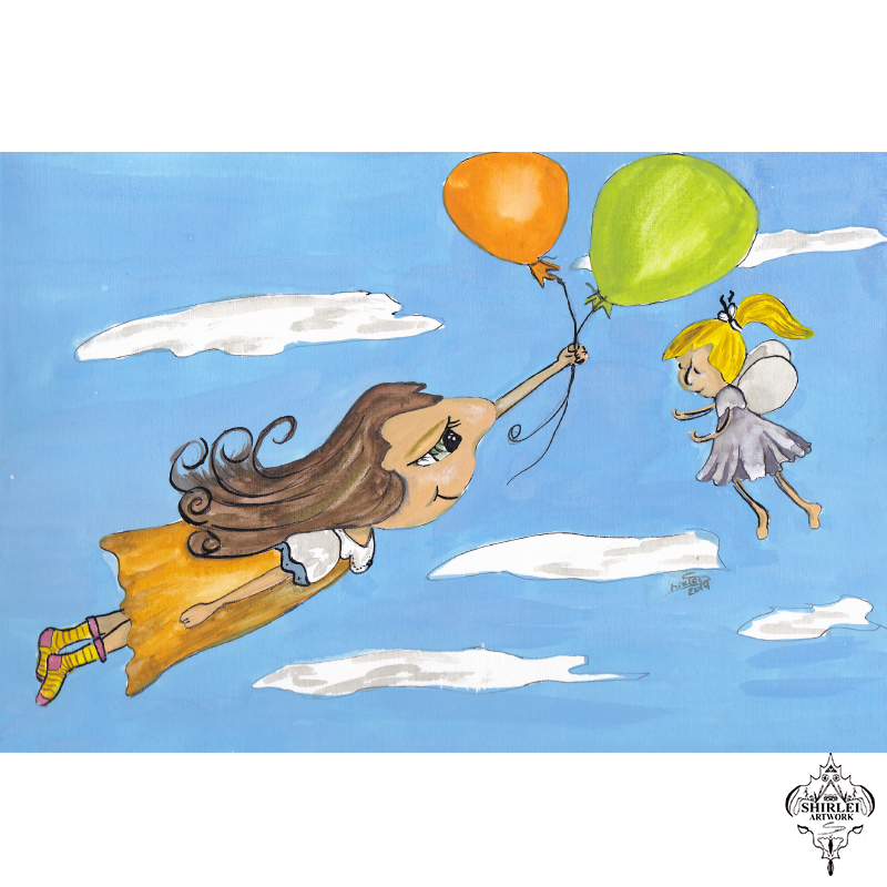 Balloons flight – Character Illustration