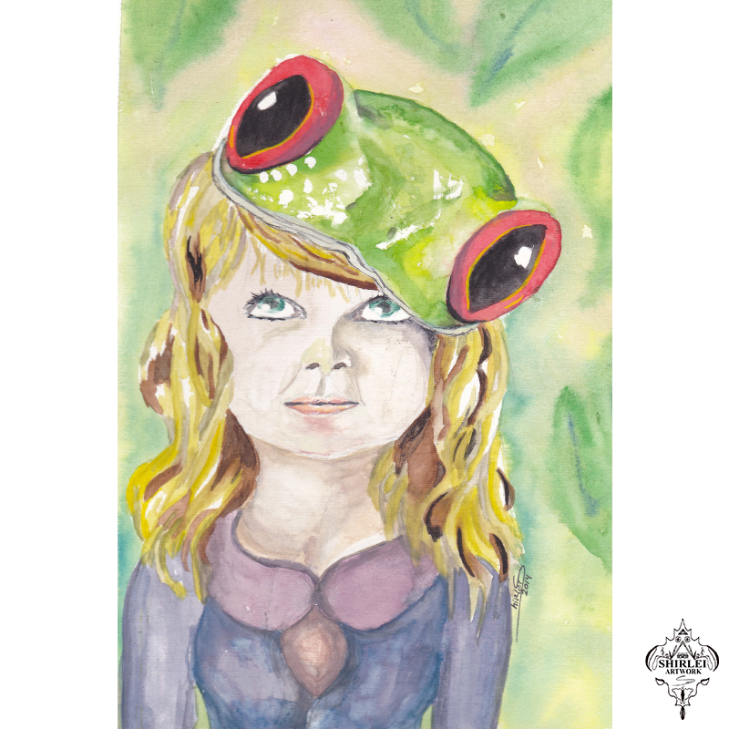 Character Illustration – frog hat