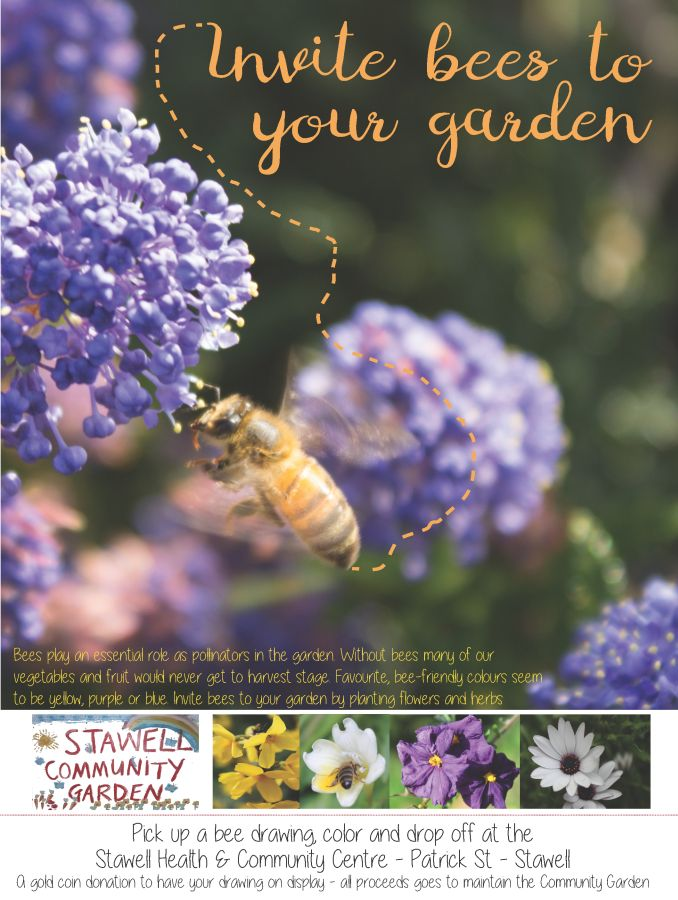 Invite bees to your garden poster