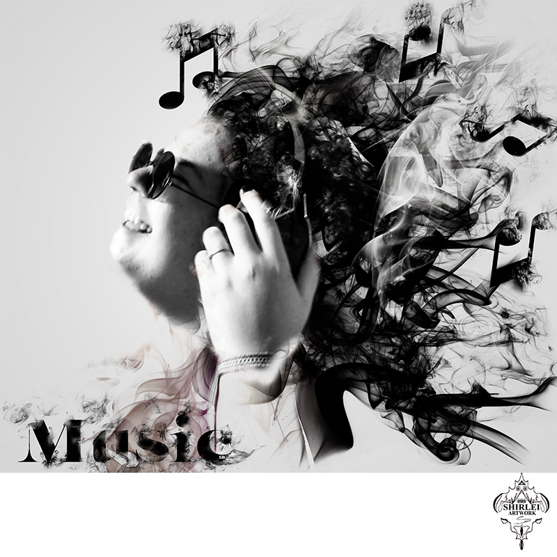 Music digital – smoke effect